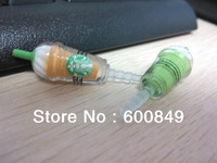 Wholesale Starbucks coffee cup shape earphone dustproof stopper for iphone 4 4G 4S 5G mobile phone with available colors