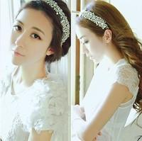 2013 new Wholesale fashion handmade bridal party shining gems elastic hairbands headband hairband hair accessories