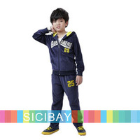 New Year Kids Winter Clothing Sets Tracksuit Boys Warm Cozy Casual Velour Sets,Hooded Jacket + Long Pants,Free Shipping  K4498