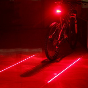 Retail (with tracking number) factory sale Cycling Safety Bicycle Rear Lamp Bike Laser Tail Light (5LED+2Laser) P003(China (Mainland))