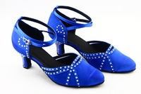 LUXURY FULL RHINESTONES WOMEN'S SALSA LATIN BALLROOM DANCE SHOES SIZE 4.5-8.5