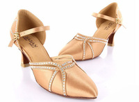 Latin dance shoes  adult women's high-heeled 5.5cm 7.5cm  ballroom dancing shoes
