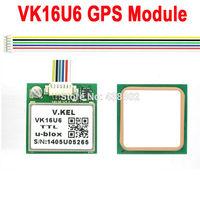 5pcs/lot VK16U6 ublox GPS Module with Antenna TTL Signal Output FZ0517 Free Shipping Dropshipping