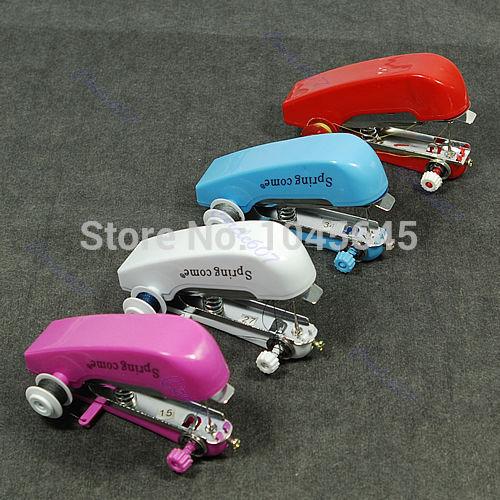 E79 Free Shipping! New Mini Handy Clothes Fabric Sartorius Handheld Sewing Machine(China (Mainland))