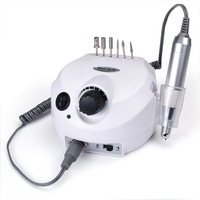 Professional electric nail drill file machine manicure pedicure bits kit with foot pedal Nail polisher 30000RPM Free Shipping