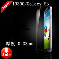 free shipping explosion-proof membrane For Samsung i9300/Galaxy S3 GLASS  Premium Tempered Glass Screen Protector+Deluxe Package