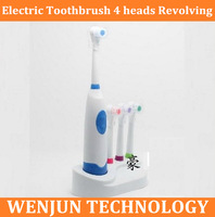 HOT SALE  Professional Care Powered Electric Toothbrush 4 heads Revolving Brush Dental Care Oral Hygiene