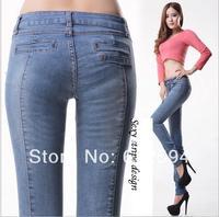 Hot! free shipping new women high waist jeans female plus size jeans lady winter skinny denim pants pencil pants slim fit pants