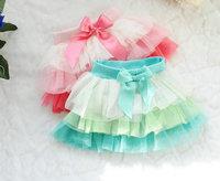 DQ-4K fantasia infantil tutu children skirt Spring 2014 baby& kids skirt rainbow children skirt for dancing free shipping Retail