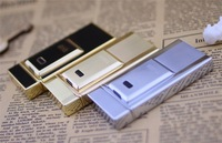 Lighter windproof ultra-thin full metal charge lighter usb electronic cigarette lighter Men Lighters