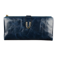 New arrived!Special offer new lady leather wallet purse women long oil wax