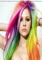 Hair Piece For Women,Colored colorful Straight Clip-in Hair Extension,50cm, ynthetic Hair, Free Shipping