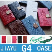 6 color Crocodile grain shell Leather Case for JIAYU G4 3000mah version Diamond rhinestone button