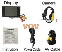 Free shipping! 3.5 inch TFT LCD Car Monitor with Car Reverse Backup Camera !! NO.601-B