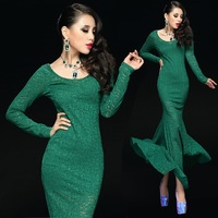 Free shipping new 2014 lace long evening dress special occasion dresses gnows dress party evening elegant vestidos de fiesta