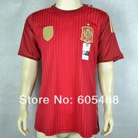 Top A+++ 2014 World Cup Spain Soccer Jerseys,Spain home INIESTA,FABREGAS,ISCO,MATA,RAMOS,TORRES,XAVI jerseys,Free shipping