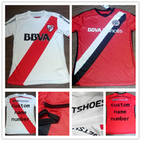 Top A+++ Argentina camiseta river plate 2014 2015 home white away red Soccer Jerseys custom name and number Free shipping