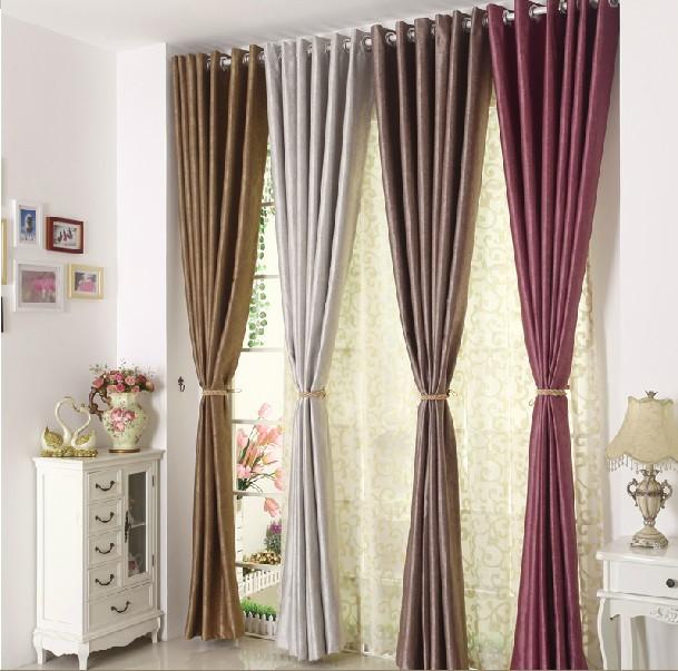 Moda tecido quarto cortinas da sala cortinas persianas - Moda en cortinas de salon ...