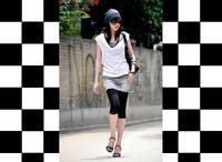 Silk skinny pants/95% mulberry silk+5% lycra spandex/Fashion new style 2013/Autum-summer/Classic white & black