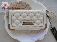 Kk kardashian kollection rivet long design female wallet day clutch