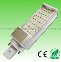 Ultra Bright 5W/7W/9W/11W/12W/14W SMD2835 LED chip AC85-265V isolated power E27 G24 led light with Transparent PC cover!