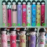 DHL16 Pcs/lot Free Shipping+New arrival Japanese girl Gift Umbrella, 3-Folding Umbrella, retail packaging