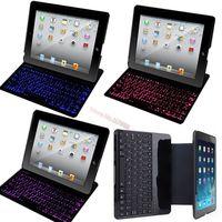 For Apple iPad 2/3/4 Original Brand Portable Mental Aluminium Ultra Thin Mute Bluetooth Backlight Keyboard Case Cover