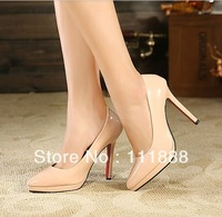 Free shipping 2014 fashion new style European big brand classic  pointed toe stiletto high heel single shoes 2078 hot sale