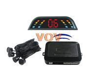 Free shipping!Car wireless led parking sensor Auto Reverse Backup Radar Detector System + 4 rader NO.303-W