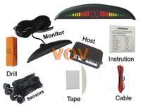 Free shipping!Car LED Parking Sensor Monitor Auto Reverse Backup Radar Detector System + 4 rader NO.302