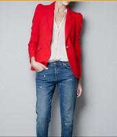 Hot sale 2014 fashion cardigan one button women's slim small suit jacket/female slim blazer linen blazer/ladies coat