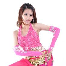 frete grátis TP008 multi cores lantejoulas moedas de ouro moedas de prata dança do ventre TRAJE TOP(China (Mainland))