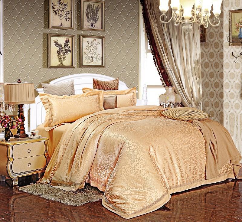 Jacquard jogo de cama / conjuntos de cama de casamento / jogo de cama de seda / luxo consolador define queen / têxtil lar / Quilt cover / folha / fronha(China (Mainland))