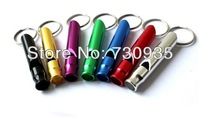 Outdoor Survival Whistle Aluminum Camping Climbing Lifesaving Whistle Tools  100 pcs\lot Wholesale Multicolor Mixed color