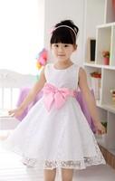 New Retail   Girls Cute Dress children Summer  print  Priness Dresses 6 styles  free shipping
