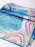New 2014 100% Silk Twill Scarf Handmade Rim For Women Designer Stripe Printed Mulberry Silk Square Scarves Shawl 90x90cm SF0266