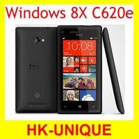 Original Unlocked  HTC 8X c620e Windows os GPS WIFI 4.3 inch Touch Screen 8MP camera 16GB storage Mobile phone Free Shipping