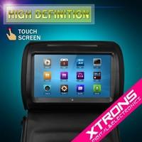 "Black 9"" HD Stylish Headrest Touch Screen Car DVD Player Car Seat Pillow Monitor DVD USD SD FM IR"
