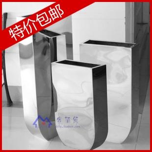 Large floor vase stainless steel vase flower front desk decoration(China (Mainland))