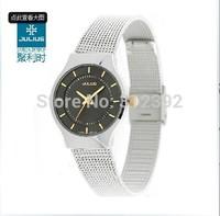 Authentic Korea Design Julius Brand Watch Women OL Simple Fashion Quartz Wrist Watch leather band JA-577