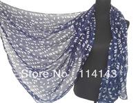 10pcs/lot Fashion Small Birds Print Scarf Wrap Shawl Polyester Scarfs , Free Shipping