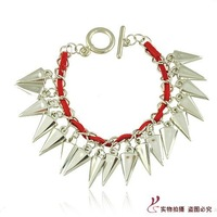 New Arrival Punk Color Bracelet Leather Bracelet Bangles for women Female Fashion Jewelry