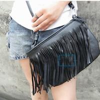 women messenger bags Women Lady Satchel Hot Sale Style Fringe Tassel Shoulder Messenger Bag Handbag