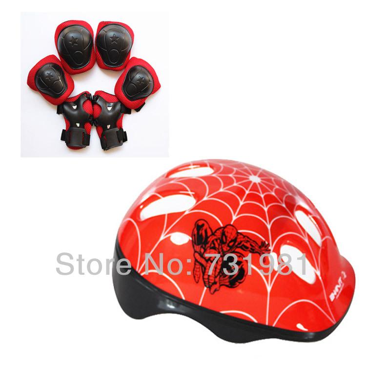 New 7pcs/Set Helmet Knee Elbow Wrist Protective Guard Pad Kid Skating Gear Kid Helmet Protector Kit(China (Mainland))