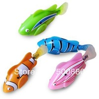 Free Shipping,4 Colors Robo Fish,Plastic Emulational Toy Robot Fish,Electronic toys for children,Creative Baby toys,MOQ:1 pcs
