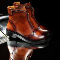 ENMAYER Black brown size 34-39 2014 new arrive beautiful fashion women winter boots Genuine leather ankle boots