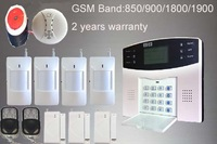 Home Security GSM Alarm SMS Burglar Alarm System With Smoke Alarm By Voice Prompt