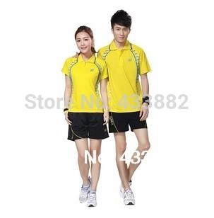 "YY Badminton Clothing Set Men and Women Sportswear Jersey/Shirt+Shorts Ladies Badminton Shirt  Accept Personalize ""Name"" L029(China (Mainland))"
