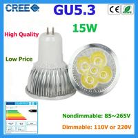 10pcs led bulbs GU5.3 15w 12w 9w warm white cold white 220V Dimmable led Light led lamp led spotlights bulbs lamps