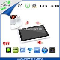 q88 7 inch 1.2ghz cheapest dual allwinner tablet pc